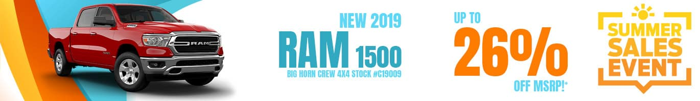 2019 RAM 1500 Inventory near Terre Haute, Indiana.