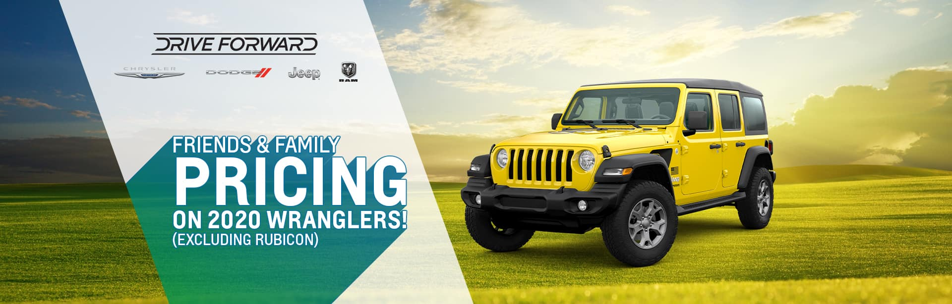 Friends and Family Pricing on a New Wrangler near Rockville, Indiana
