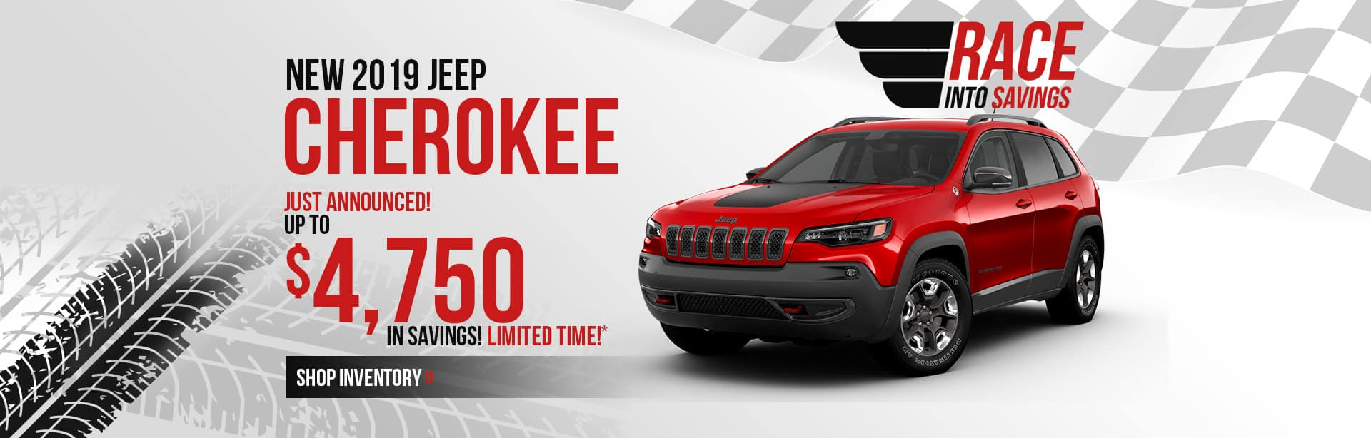 Save more on a New 2019 Jeep Cherokee near Terre Haute, Indiana.