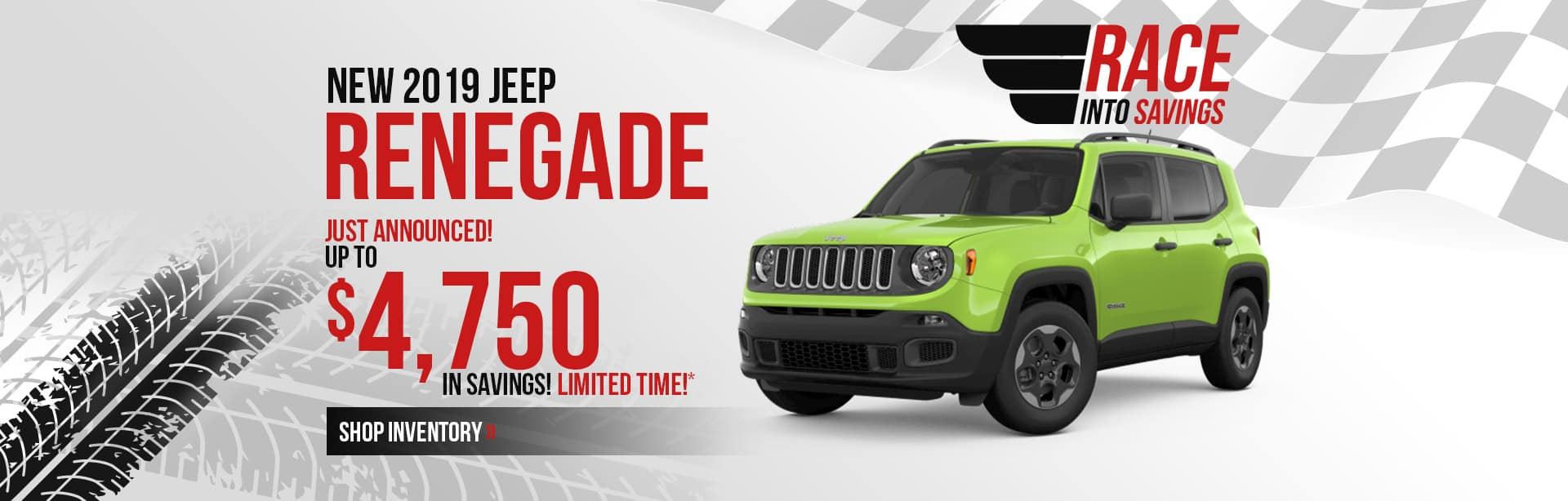 Save more on a New 2019 Jeep Renegade near Terre Haute, Indiana.