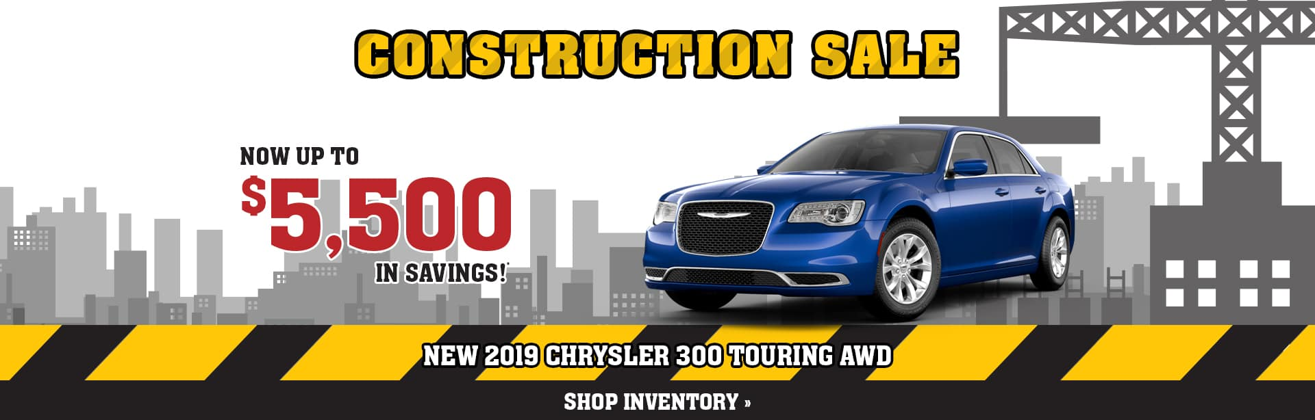 Save up to $5,500 on a new Chrysler 300 near Terre Haute, Indiana