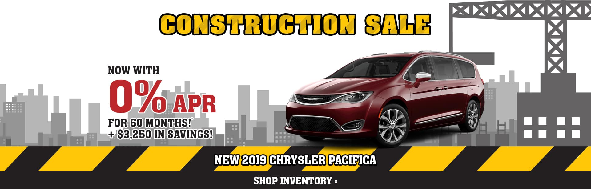 Special Rebate and Finance offer on a Chrysler Pacifica near Clay City, Indiana