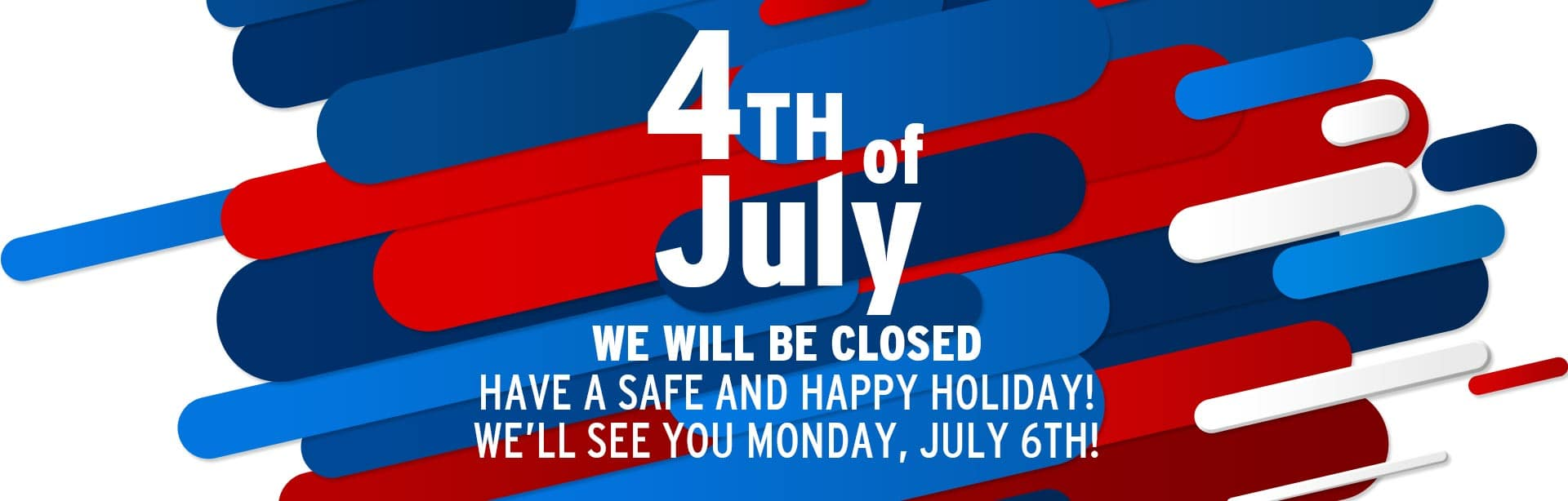 York CDJR-BZ will be closed July 4th