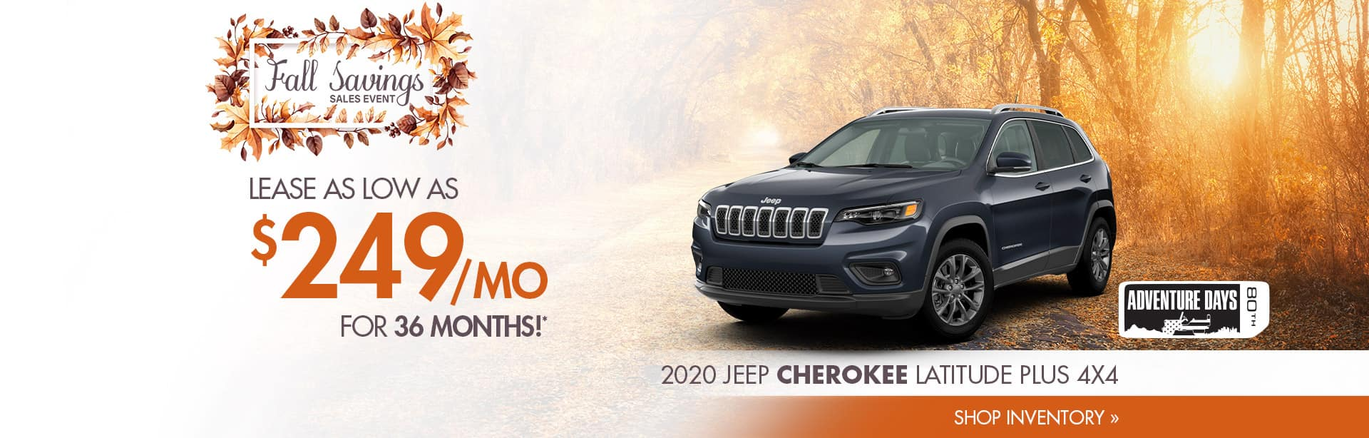 Lease a new Cherokee near Terre Haute, Indiana