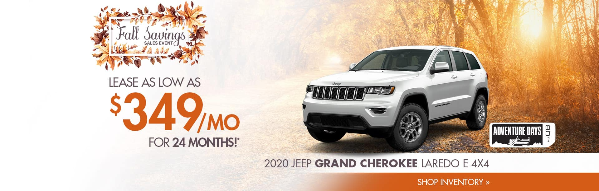 Lease a Grand Cherokee near Clinton, Indiana.