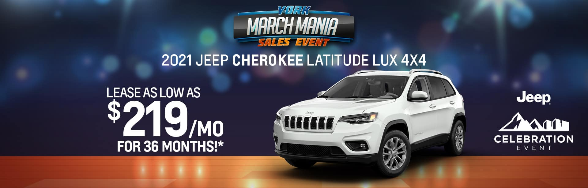 2021 Jeep Cherokee Lease offer near Indianapolis IN