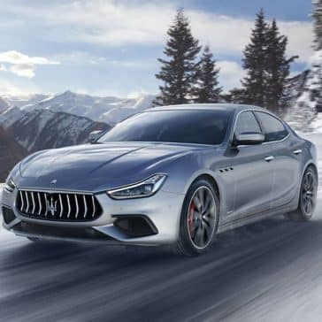 2019 Maserati Ghibli in the snow