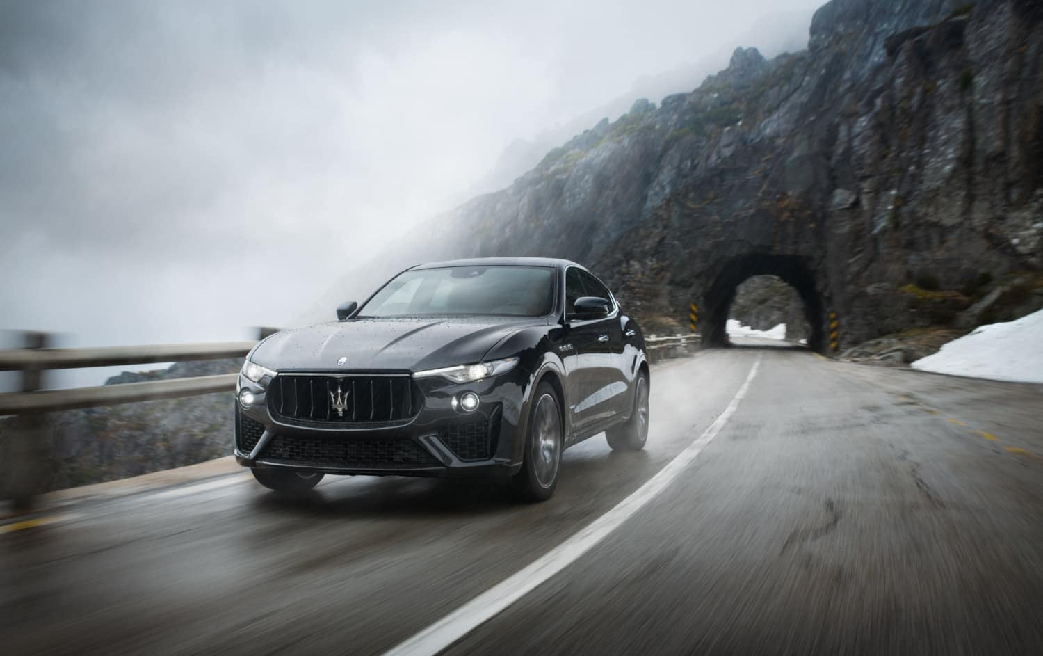 2019 Maserati Levante driving down road