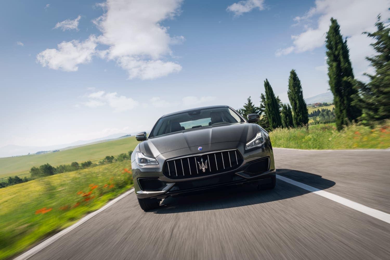 2019 Maserati Quattroporte driving down road
